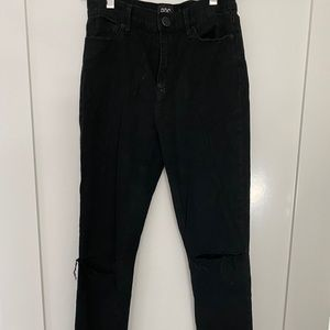 BDG Black skinny jeans with knee holes size 26